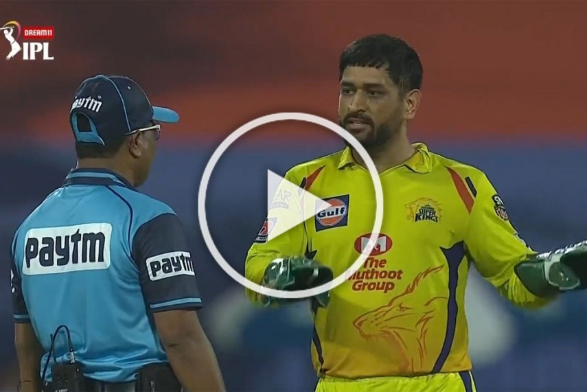 Ipl 2020 Rr Vs Csk Unhappy Ms Dhoni Takes On Umpire Again Watch