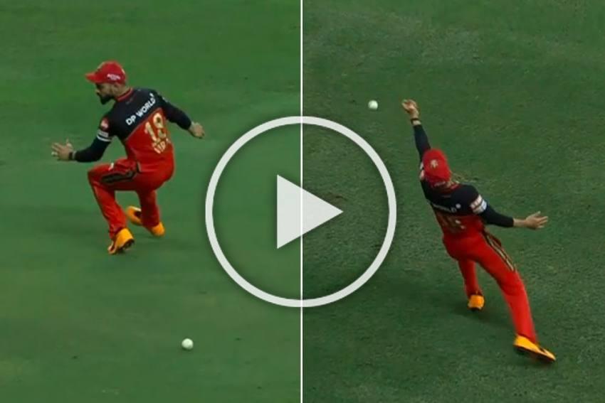 IPL 2020, KXIP Vs RCB: No Mercy For Virat Kohli As Skipper Drops Rival Captain KL Rahul Twice - WATCH