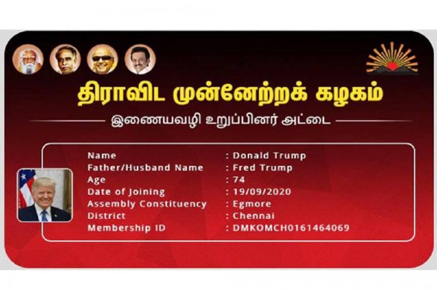 How Donald Trump, EPS, Expelled Leader M.K. Alagiri Became 'DMK Members'