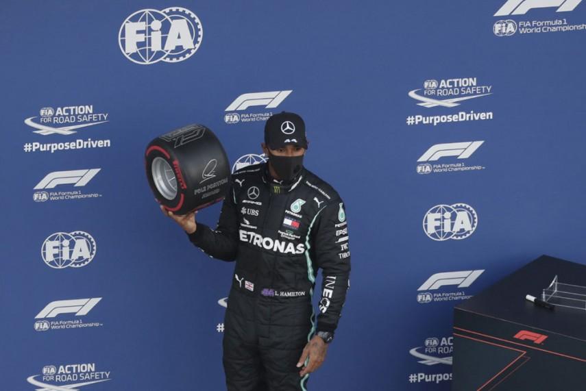 F1 2020 Lewis Hamilton Survives Sochi Scare To Claim Russian Grand Prix Pole