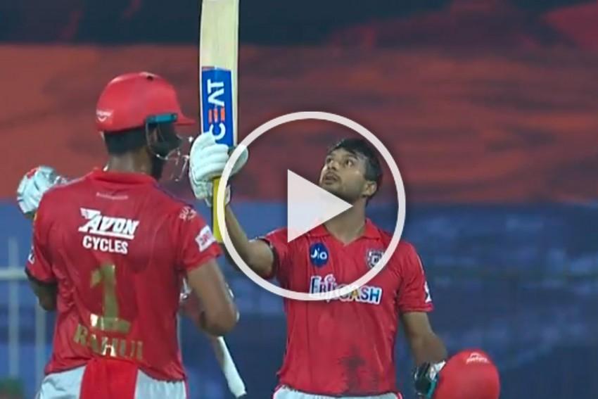 IPL 2020, RR Vs KXIP: Mayank Agarwal Have A Blast In Sharjah - Watch Opener's Stunning Knock