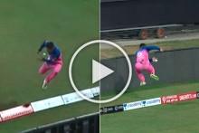 IPL 2020, RR Vs KXIP: Riyan Parag Pulls Off Stunning Effort To Deny Mayank Agarwal A Certain Six - WATCH