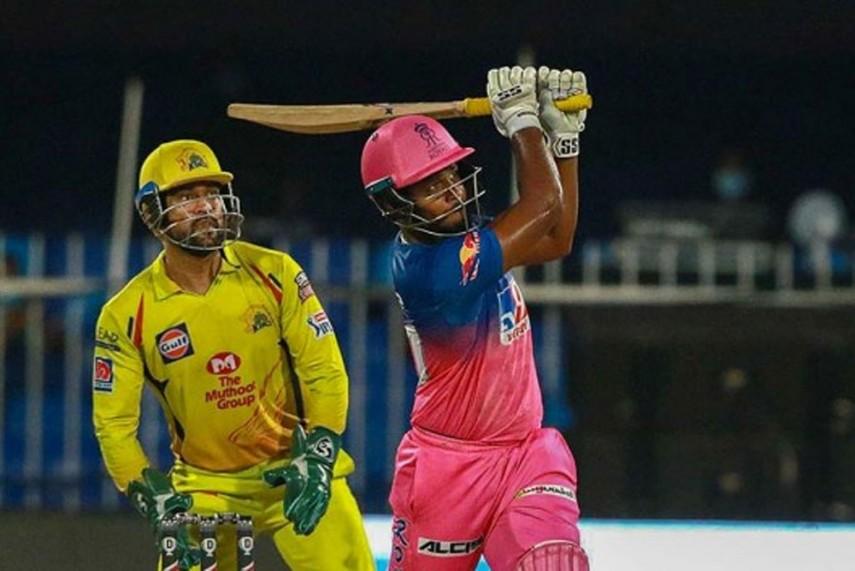 संजू सैमसन ने सीएसके के खिलाफ शारजाह में  लगाए थे 9 छक्के