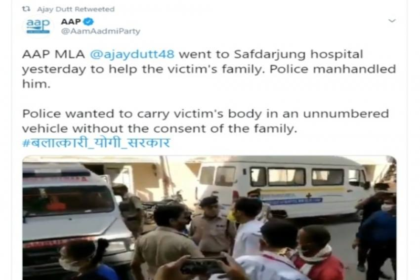 Assaulted By Delhi Cops When Asked About Hathras Victim's Body: AAP MLA