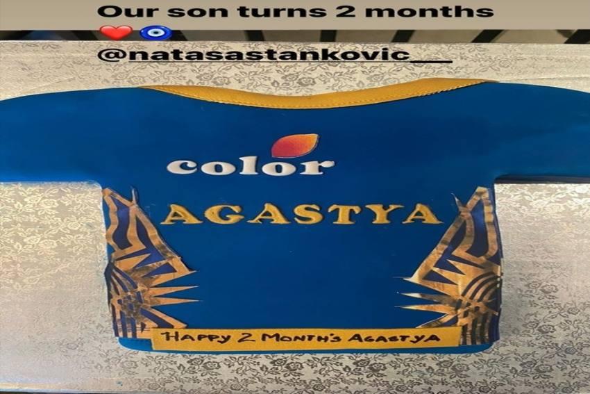 Hardik Pandya And Natasha Stankovic Celebrate Son Agastya Turning Two Months