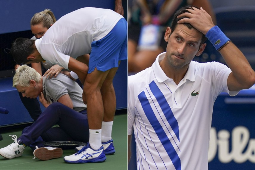 Us Open 2020 Novak Djokovic Defaulted For Hitting Linesperson With Ball In Shocking Incident
