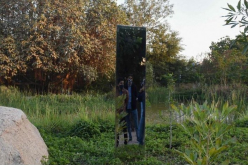 Mysterious Monolith Emerges In Ahmedabad Park