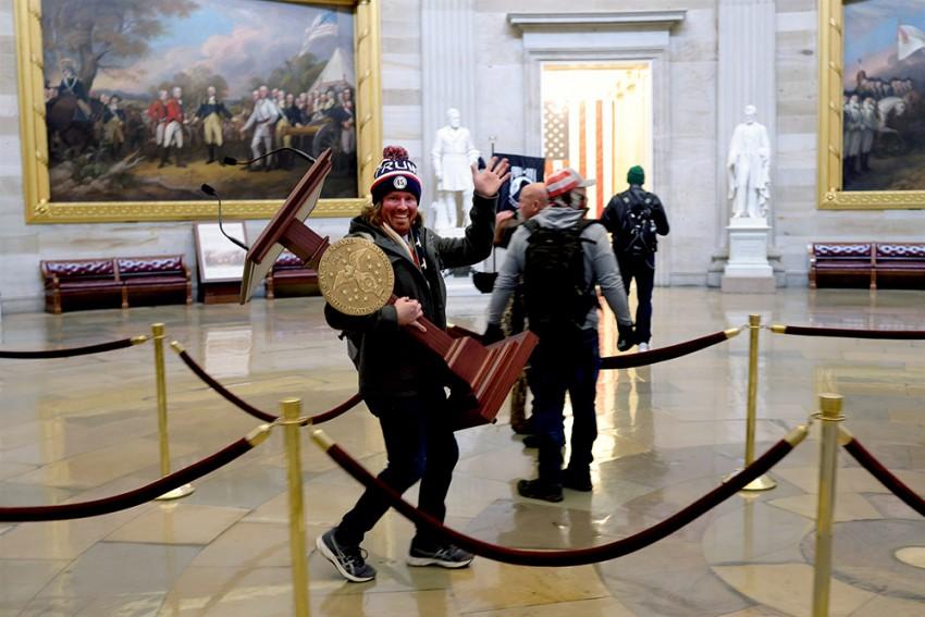 US Capitol Violence: Cops Arrest Man Photographed With Speaker Pelosi's Lectern