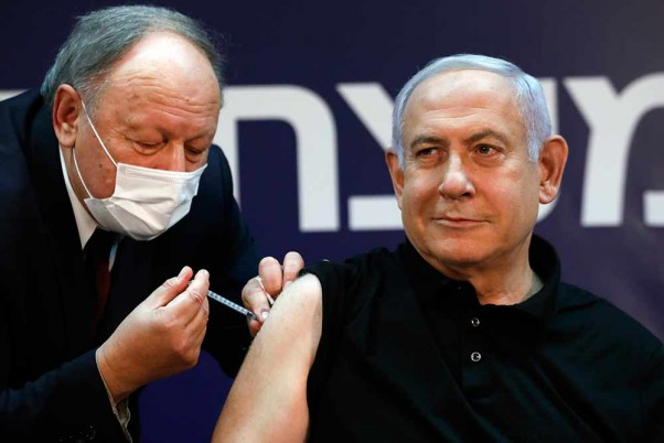 Israeli PM Benjamin Netanyahu Receives Second Dose Of Covid Vaccine Shot
