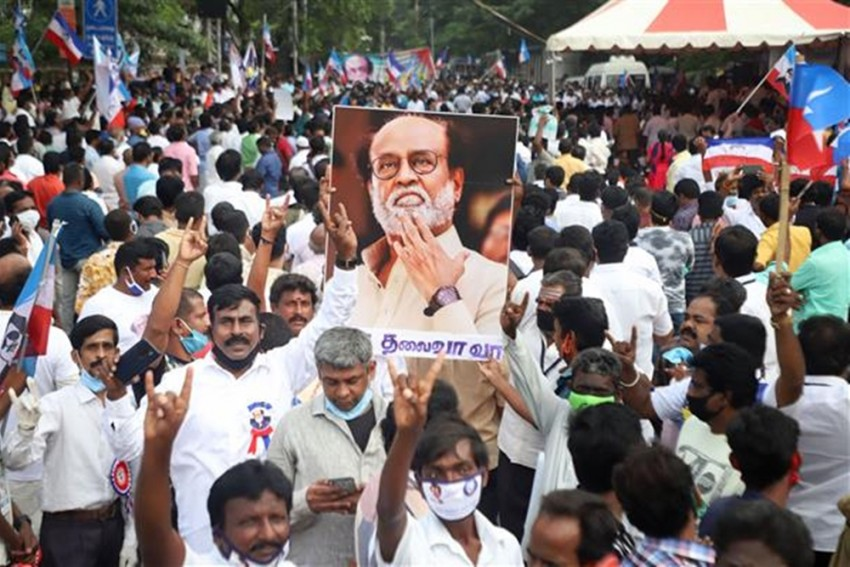 Angry Fans Of Superstar Rajinikanth Stage Protest, Urge Him To Join Politics