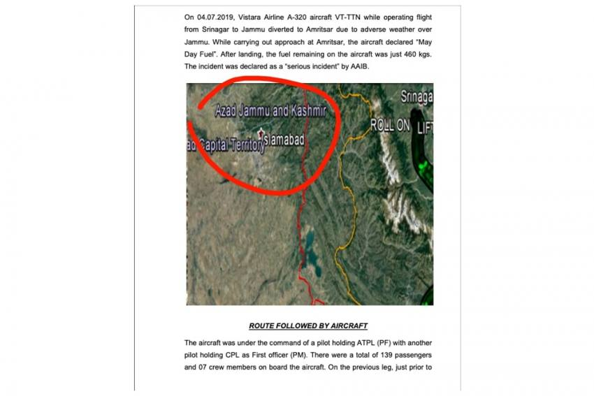 Aircraft Probe Body Shows PoK As Azad Kashmir, Deletes Report From Website
