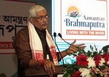 The Brahmaputra Aamantran Abhiyan Team leaves Guwahati