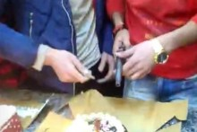 Bizarre! Two Men Cut Cake With Pistol In UP, Held After Video Goes Viral