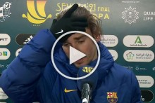'We're Screwed': Angry Antoine Griezmann Reacts After Barcelona Fall In Supercopa Final - WATCH