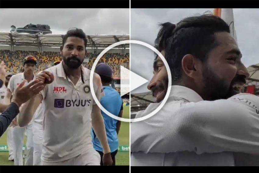 AUS Vs IND, 4th Test: Mohammed Siraj Takes Maiden 5-wicket Haul, Gets Warm Hug From Jasprit Bumrah - WATCH