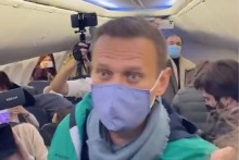 Russian Opposition Leader Alexei Navalny Detained At Moscow Airport