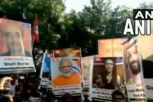Watch: Protesters In Pakistan Display PM Modi's Placards During Pro-Freedom Rally In Sindh