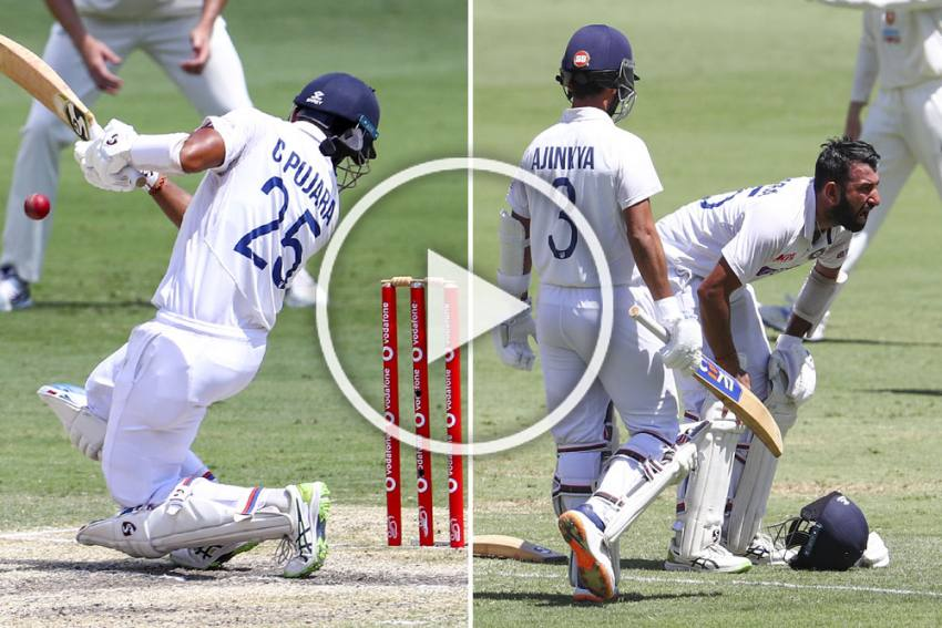 AUS Vs IND, 4th Test: Cheteshwar Pujara Copes Brutal Blows As India Chase Improbable Win - VIDEOS