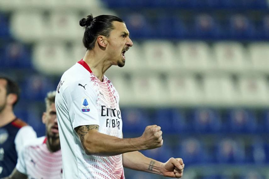 Cagliari 0-2 AC Milan: Zlatan Ibrahimovic Back With A Brace For Stefano  Pioli's Table Toppers