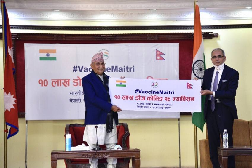 Nepal PM Oli Thanks India For 'Generous' Covid Vaccine Supply