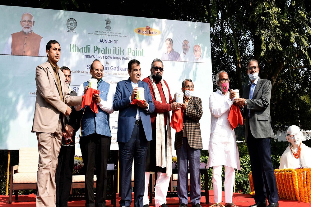 'Khadi Prakritik': KVIC Develops India's First Eco-Friendly Cow Dung-Based Paint