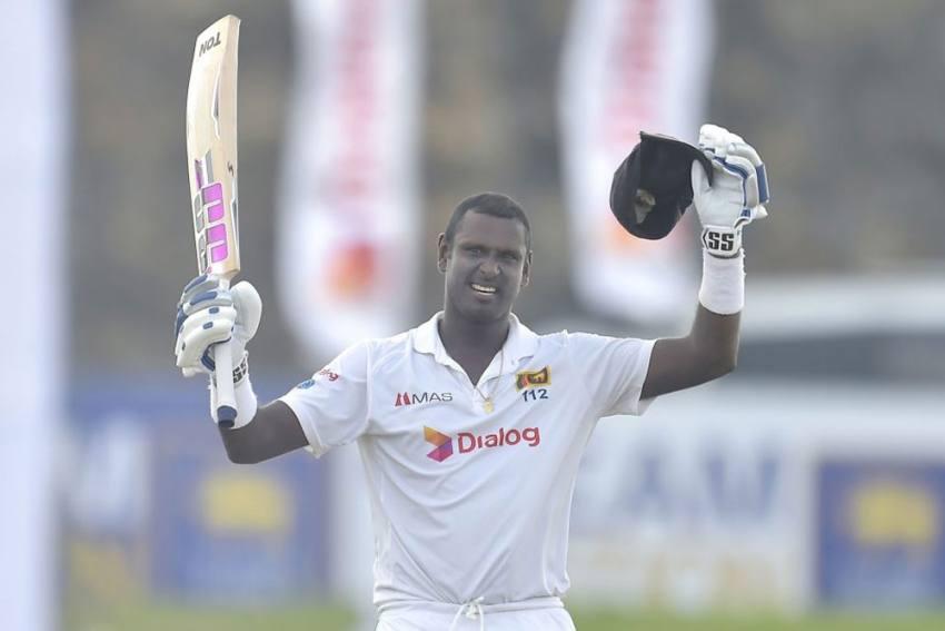 SL Vs ENG, 2nd Test, Day 1: Angelo Mathews Steadies Sri Lanka With Chanceless Century Against England