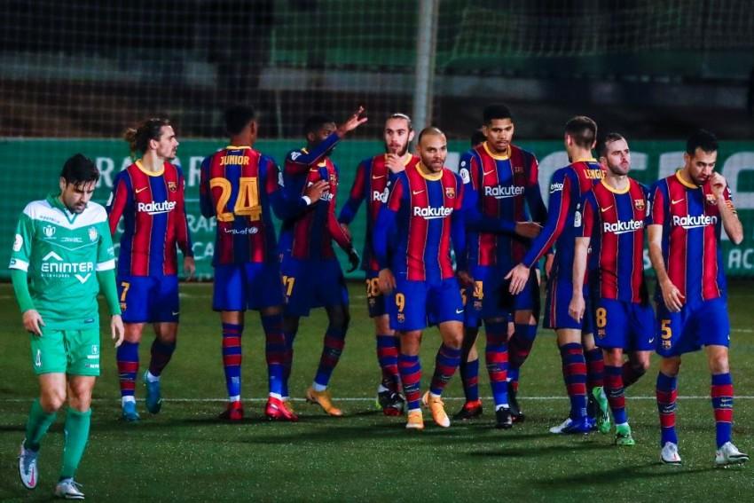 Cornella 0-2 Barcelona (AET): Ousmane Dembele And Martin Braithwaite Drag Koeman's Side Through