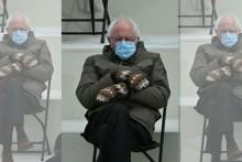 Bernie Sanders Hand-Made Mittens Spark Meme Fest in Joe Biden's Inaugration