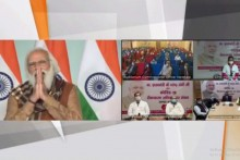 PM Modi Interacts Digitally With Covid Vaccine Beneficiaries In Varanasi