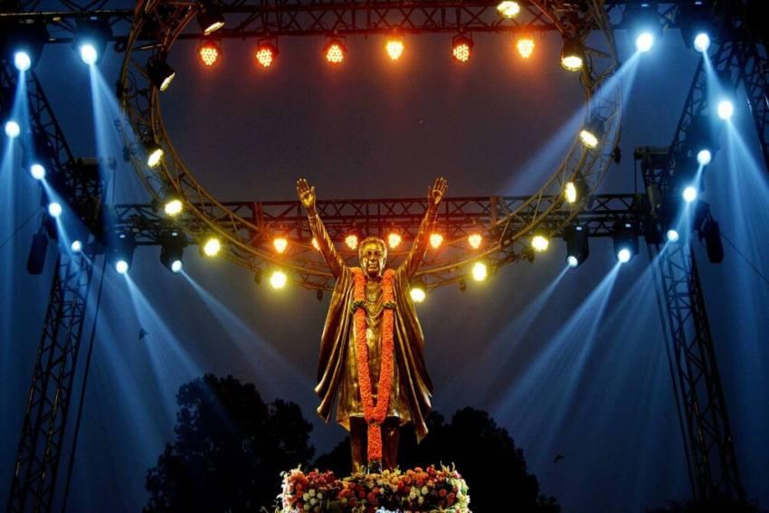 Shiv Sena Founder Bal Thackeray's Statue Unveiled In Mumbai