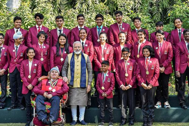 32 Children Receive The Pradhan Mantri Rashtriya Bal Puraskar Award
