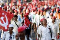 Maharashtra: 15,000 Farmers March To Mumbai To Join Tomorrow's Protest Rally At Azad Maidan