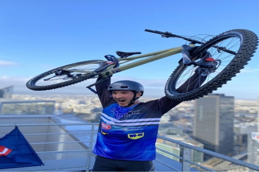 Watch: French Cyclist Climbs 768 Steps In Just 30 Minutes Without His Feet Touching The Ground