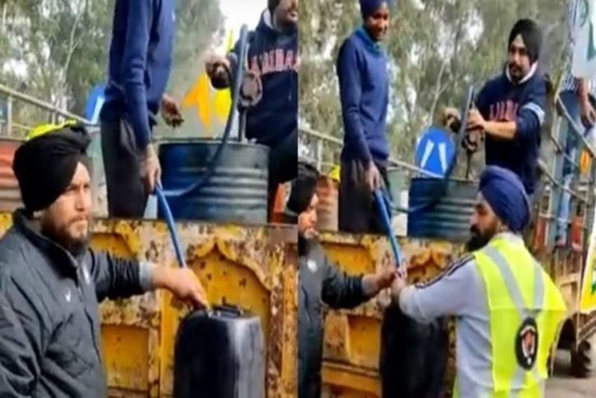 Watch: Here's How 'Free Diesel Sewa' Helped Farmers During The Tractor Rally