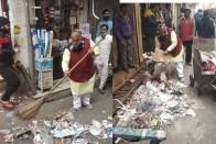 Watch: North Delhi Mayor Picks Up Trash, Urges Sanitation Employees To End Strike