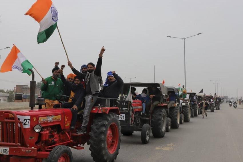 Farmers Take Out Tractor Rally Near Delhi, Security Beefed Up; Check Details