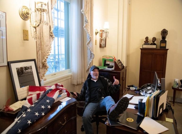 US Capitol Violence: FBI Arrests Arkansas Man From Photo Inside Pelosi's Office