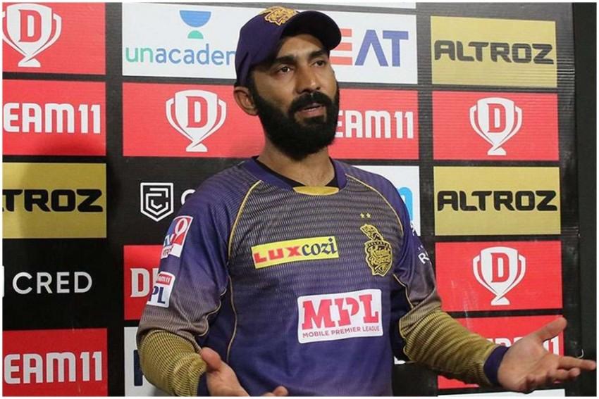 IPL 2021: Kolkata Knight Riders' Dinesh Karthik Reprimanded For Breaching Code Of Conduct