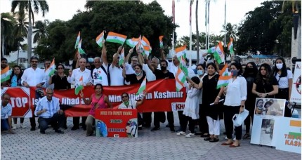 Indian Americans Protest Against Islamic Terrorism In Kashmir