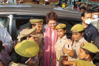 'Punish Me, Not Them': Priyanka Gandhi After UP Police Threaten Action Against Cops Who Took Selfie With Her