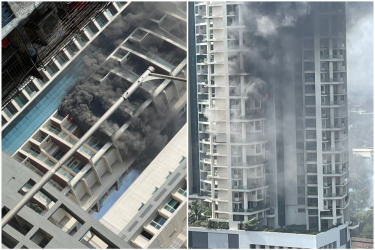 Watch: Man Falls To Death As Fire Erupts In High-Rise Residential Building In Mumbai