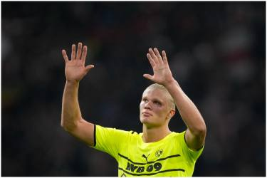 Borussia Dortmund's Erling Haaland Out For 'Couple OF Weeks' With Hip Muscle Injury