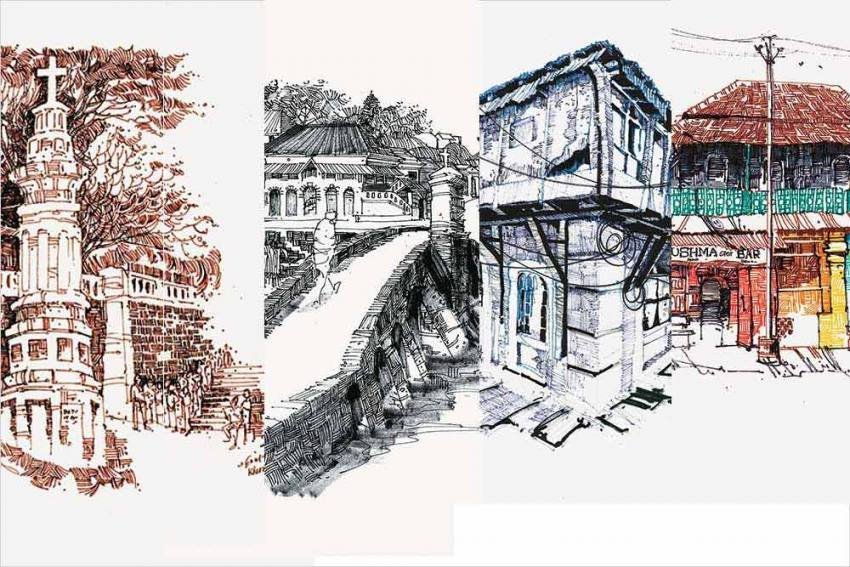 An Artist's Labour Of Love Keeps Goa's Heritage Alive….In Drawings