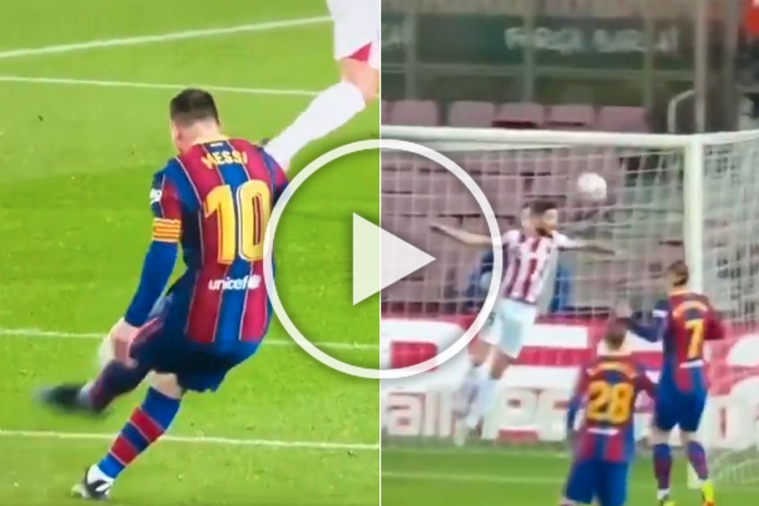 Lionel Messi Hits 650th Barcelona Goal As Stunning Free-kick Shows His Value - WATCH