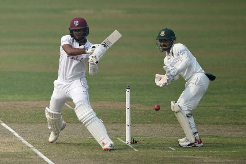 BAN Vs WI, 2nd Test, Day 1: Nkrumah Bonner Fifty Helps West Indies Reach 223/5 At Stumps - Highlights