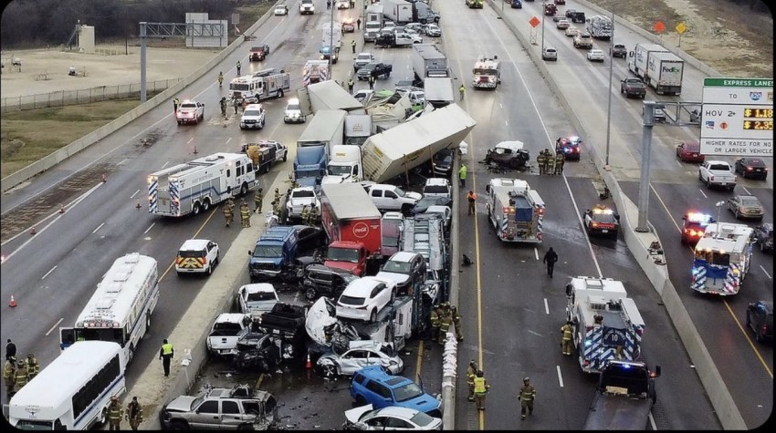 At least 6 Dead, Dozens Hurt In 130-Vehicle Pileup On Icy Texas Interstate
