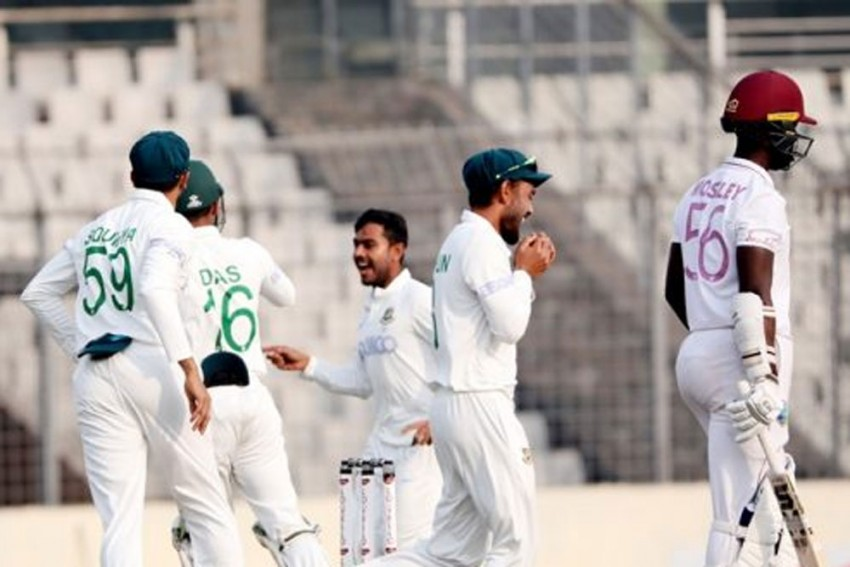 BAN Vs WI, 2nd Test: West Indies 41/3 In Second Innings, Lead Bangladesh By 154 Runs - Day 3 Report