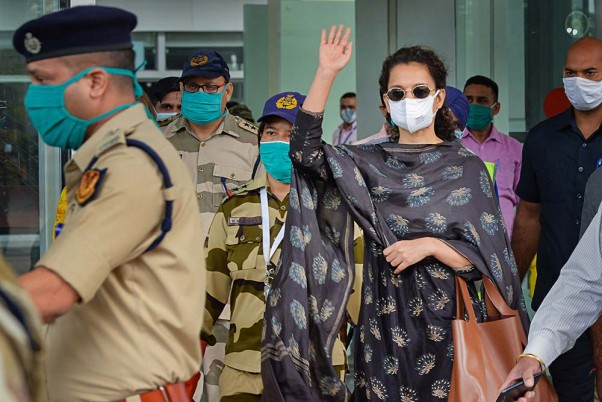 MP Congress Workers Continue Protests Against Kangana's Film; Cops Use Water Cannons