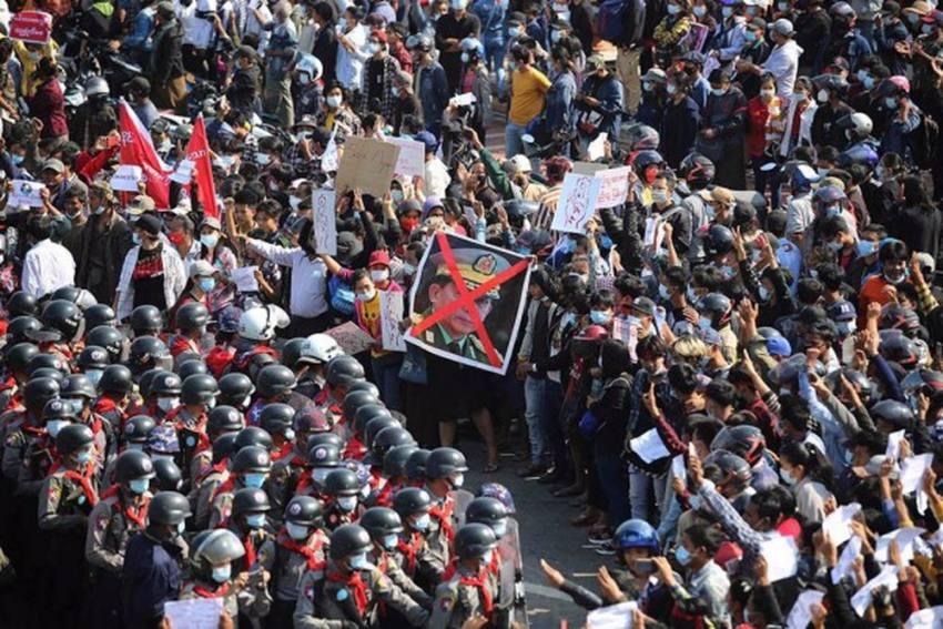 Mass Anti-Coup Demonstrations Rock Myanmar