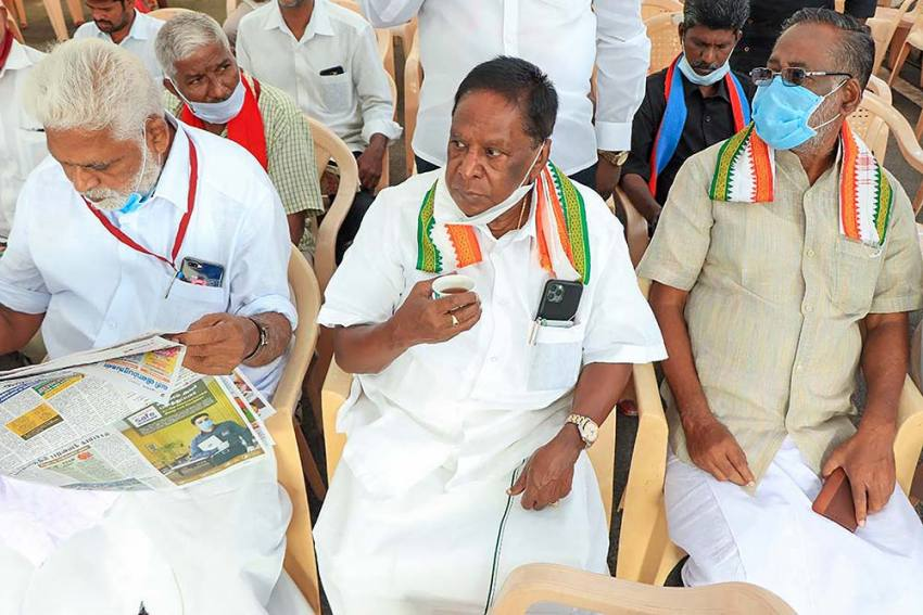 Four MLAs Quit Congress In Puducherry On Day Of Rahul Gandhi's Visit